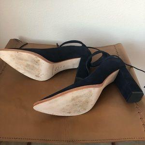 805666e1023 Loeffler Randall Shoes - Worn 1x Loeffler Randall Rita Suede Ankle-Tie Pump